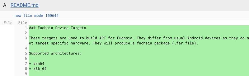 Fucshia Android