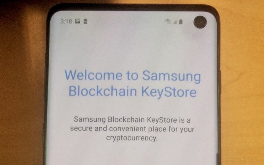 Galaxy S10 cryptomonnaies
