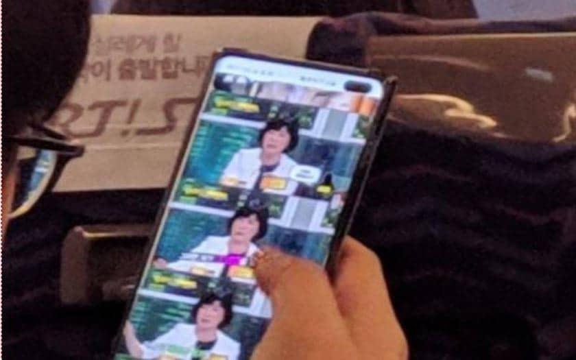 Le Galaxy S10+ repéré en pleine action, voici la première vraie photo du smartphone