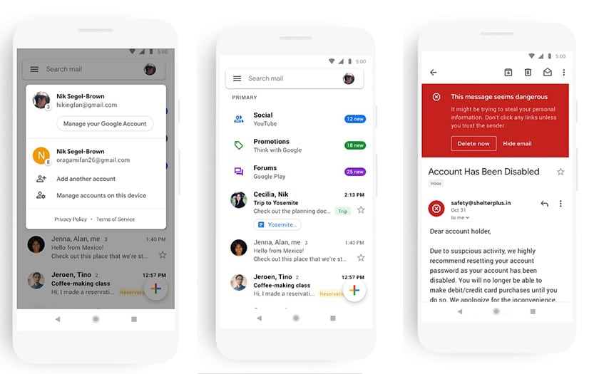 gmail android nouvelle interface apk