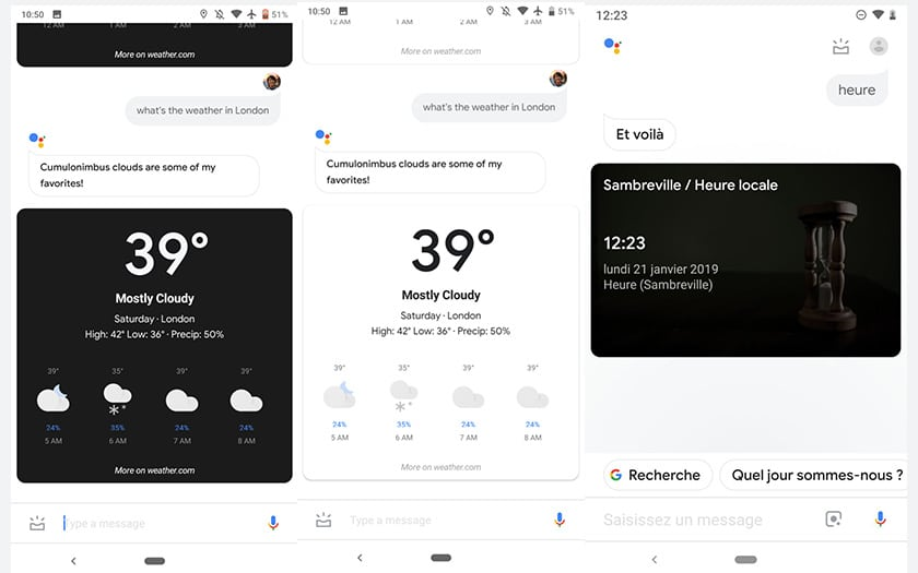 google assistant mode sombre apk
