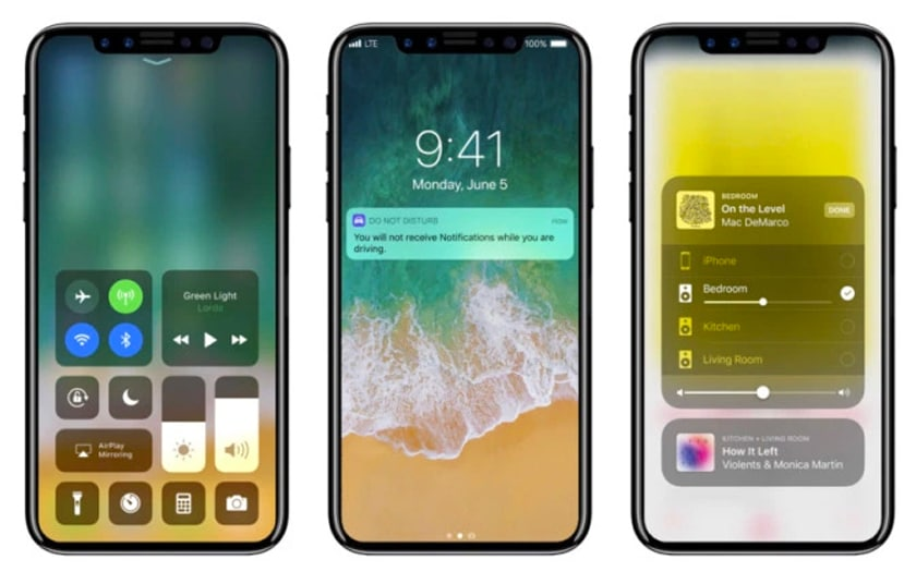 Un iPhone X sous iOS 12 / Apple