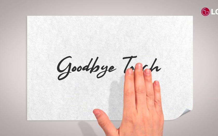 LG dit au-revoir au toucher dans son carton d'invitation MWC 2019