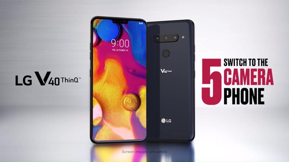 lg v40 thinq officiel