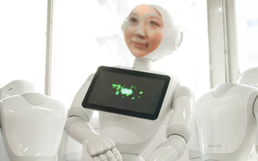 robot japonais effigie defunt faire deuil