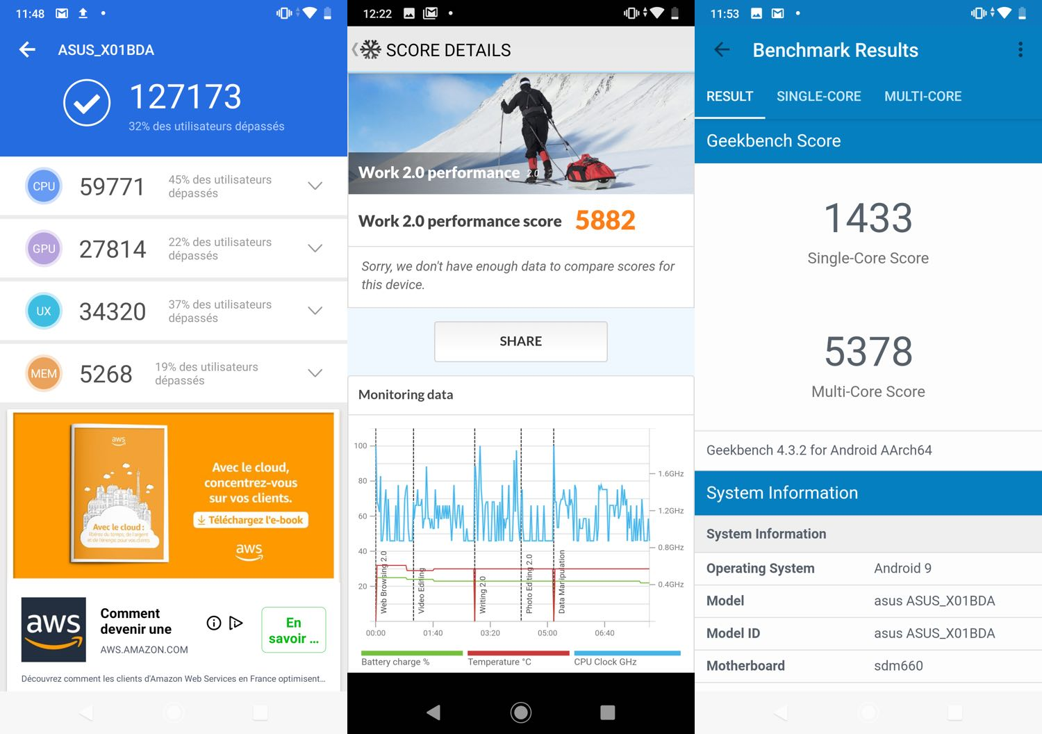 test asus zenfone max pro m2 benchmarks