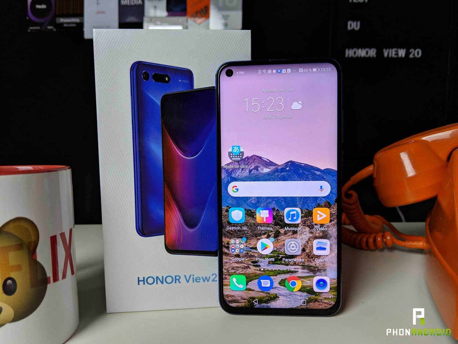 test honor view 20 ecran