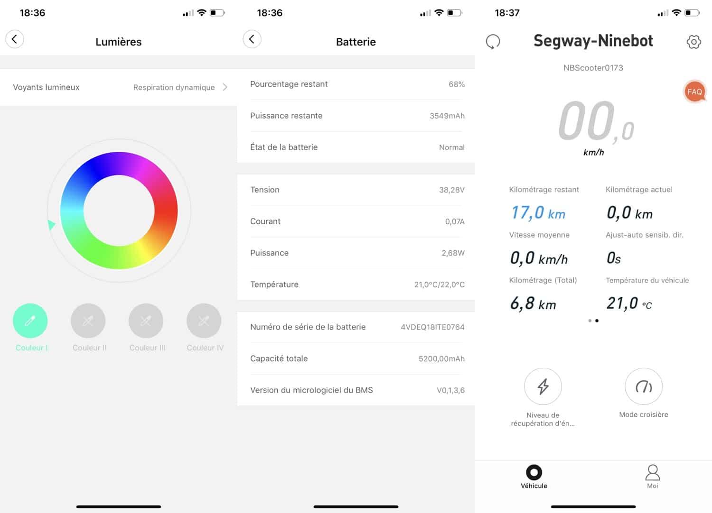 test segway ninebot es2 application donnees