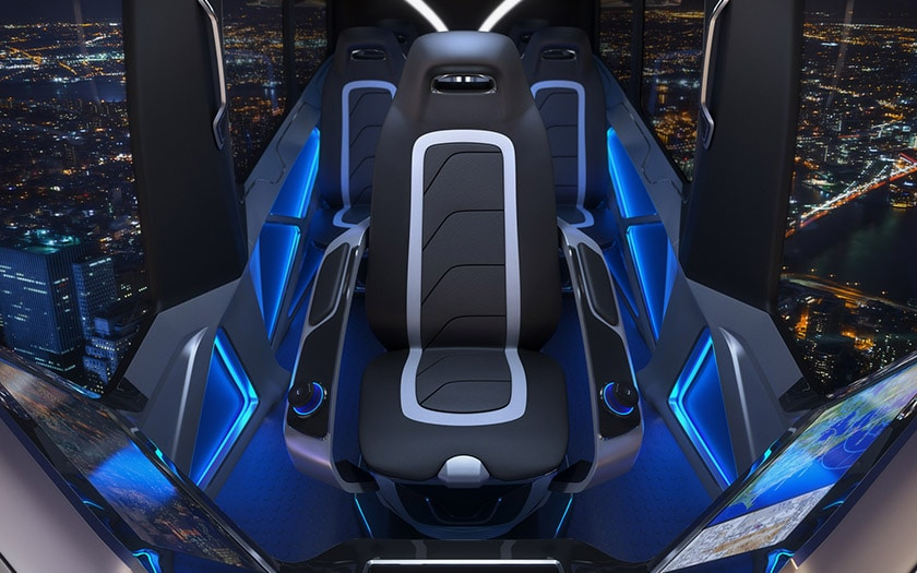 uber taxi volant CES 2019