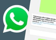 whatsapp arnaque