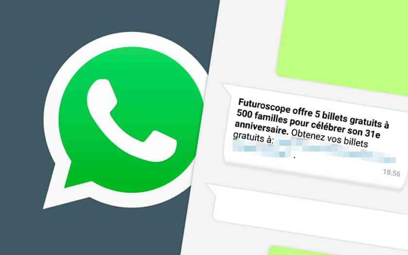 Arnaque sur Whatsapp Phishing