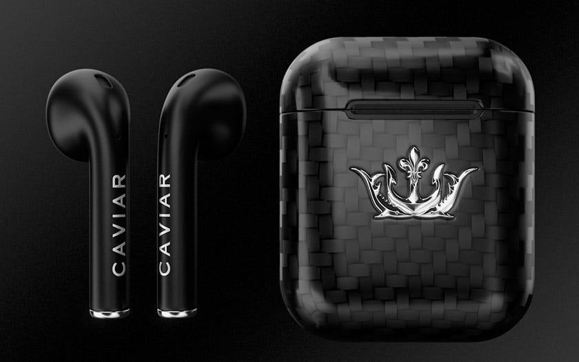 airpods noirs carbone caviar