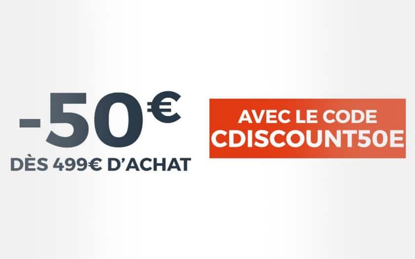cdiscount a volonte 50 euros des 499 euros achat