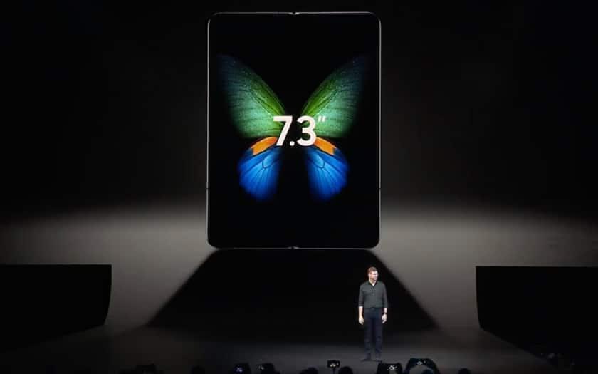 Taille de l'écran du Samsung Galaxy Fold 7.3 pouces
