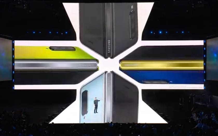 Différents coloris du Samsung Galaxy Fold