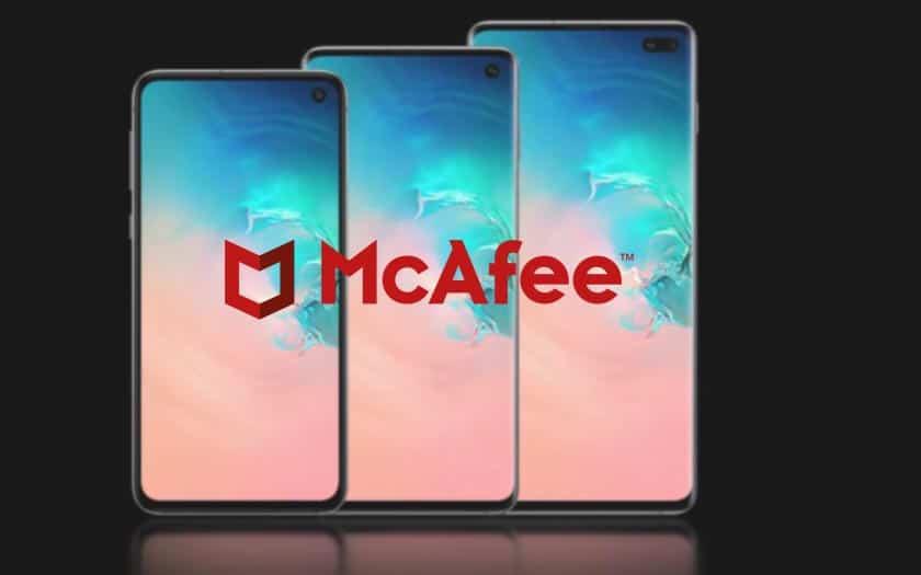 McAfee sur le Galaxy S10