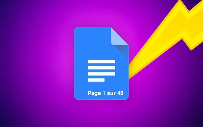 google docs comment ajouter numero page