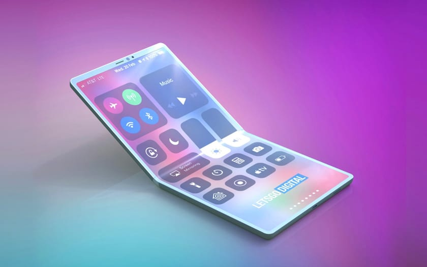 iPhone Pliable concept selon Let's Go Digital