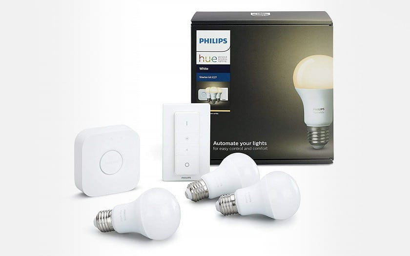 kit de démarrage philips hue blanc