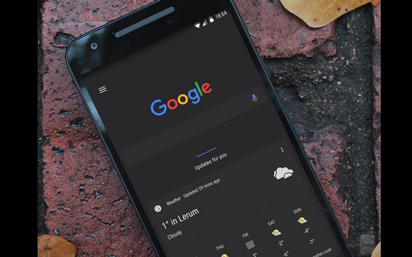 Google Chrome mode sombre sur Android