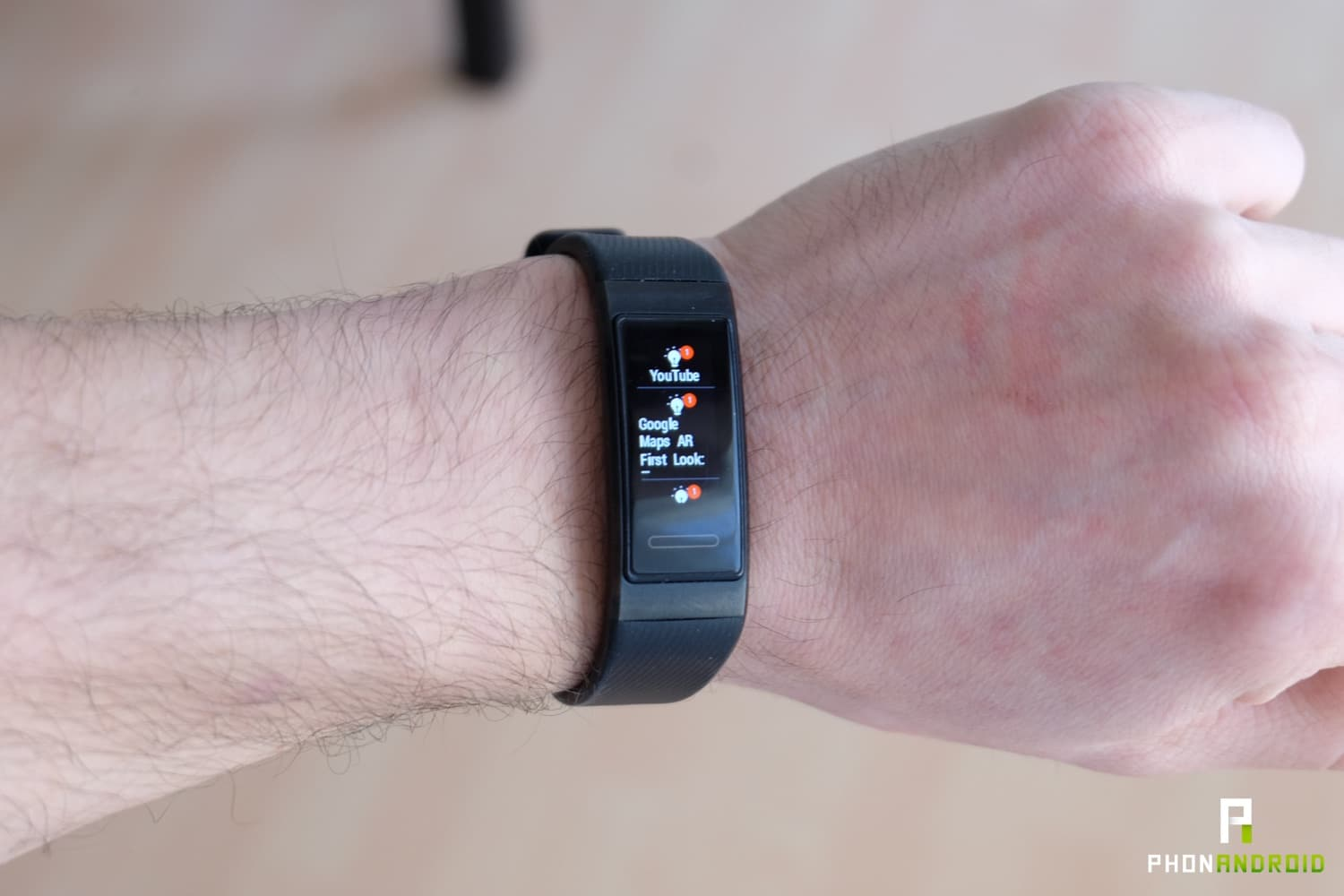 test huawei band 3 pro notifications