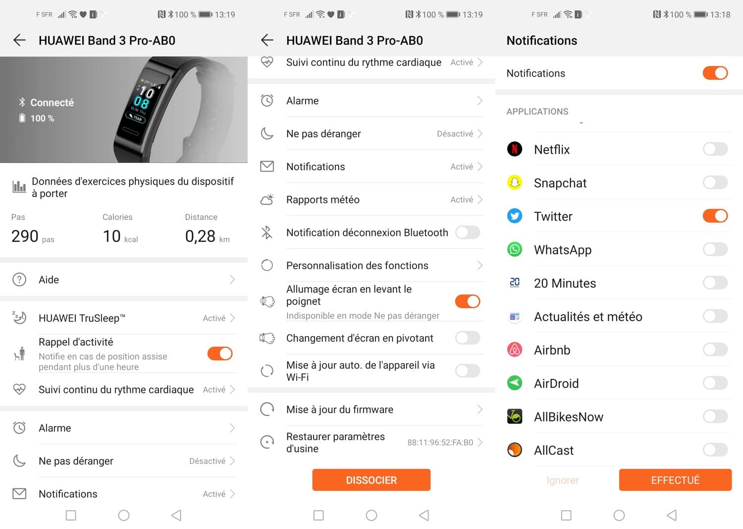 test huawei band 3 pro quotidien