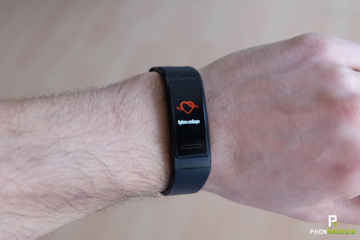 test huawei band 3 pro rythme cardiaque