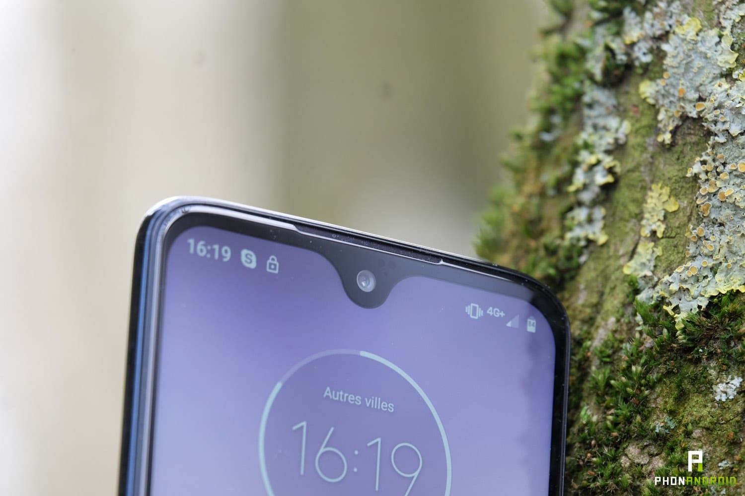 test moto g7 plus ecran encoche