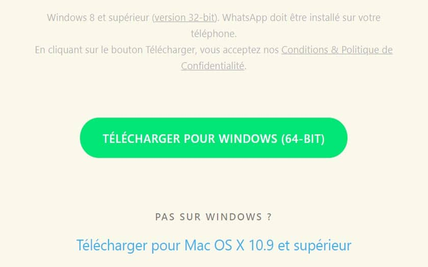 whatsapp pc telecharger