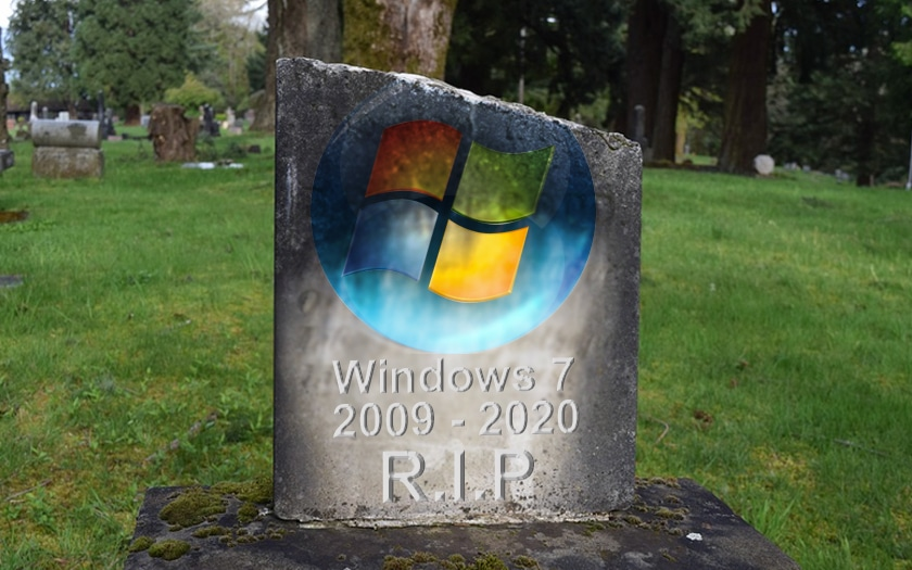 Windows 7 entre en fin de vie