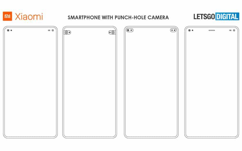 Xiaomi dépose le brevet du smartphone à écran troué deux fois