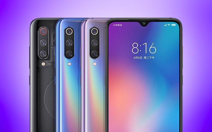 La gamme de smartphones Xiaomi Mi 9