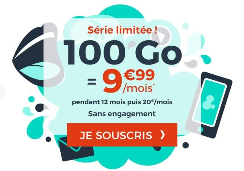 Promo forfait cdiscount mobile 100 Go
