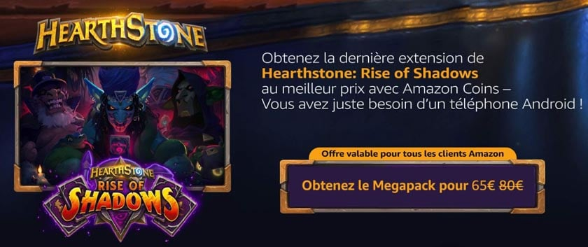 précommande amazon coins hearthstone