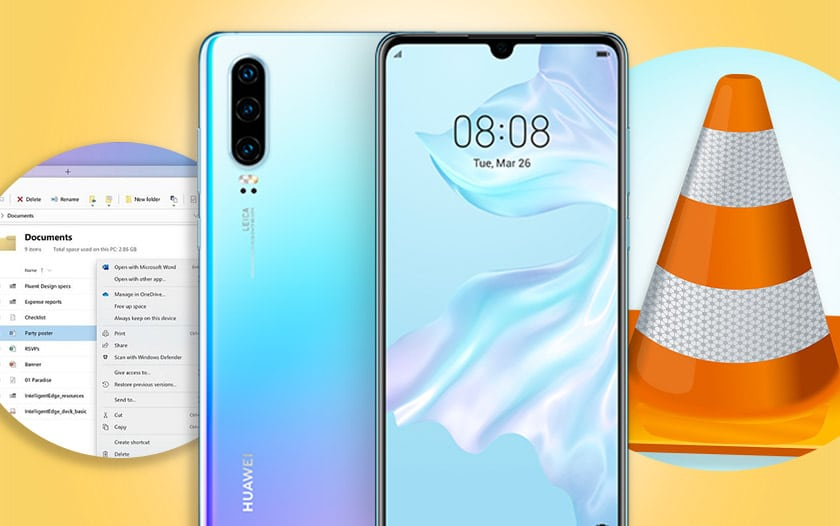 huawei p30 windows 10 explorateurs fichiers vlc android apk