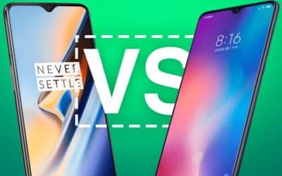 Comparatif OnePlus 6T vs Xiaomi Mi 9