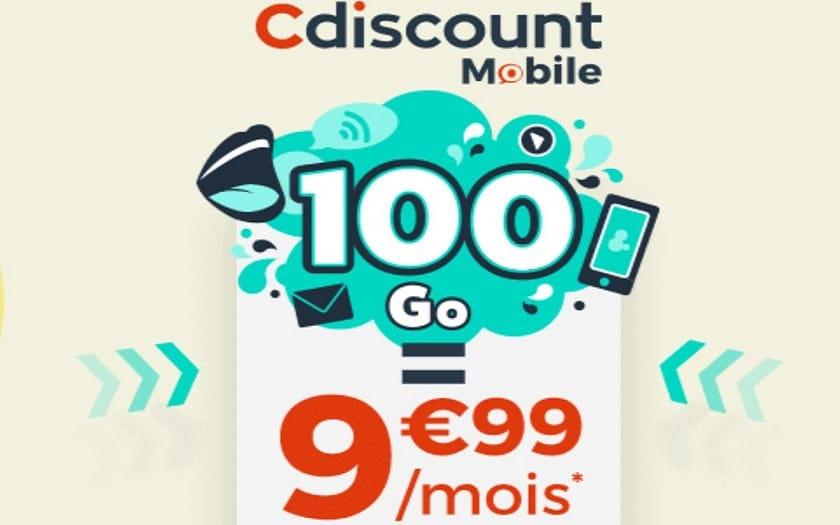 promo forfait mobile cdiscount 100 Go