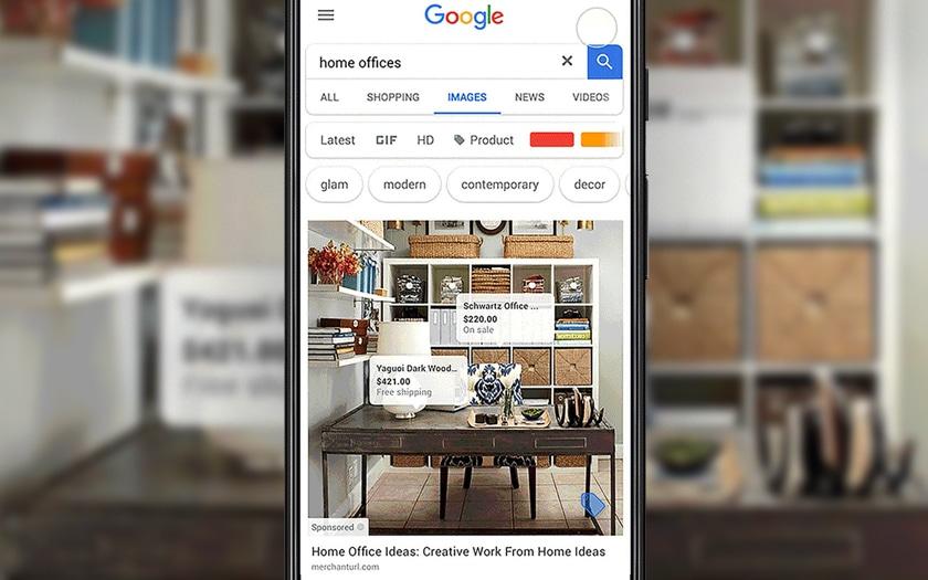 Publicités dans Google Images