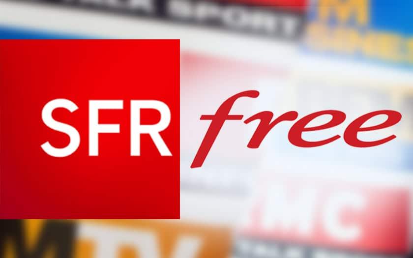 sfr free chaînes bfm rmc freebox