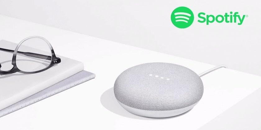 spotify enceinte google home mini offerte