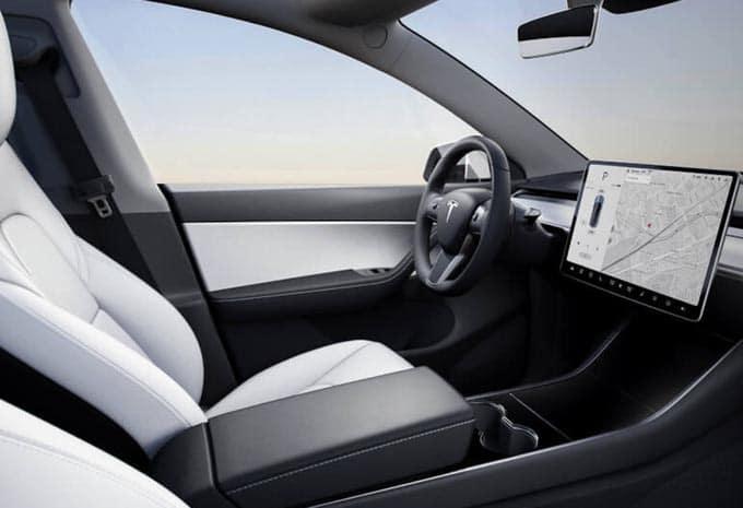 Tableau de bord des Tesla Model Y