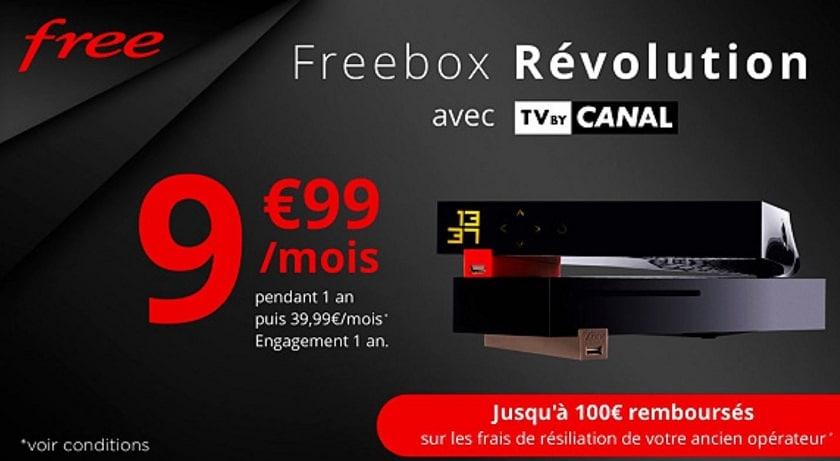 Vente privée Freebox Révolution avec TV by Canal