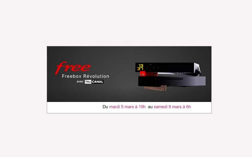 free nouvelle vente priv e freebox revolution d s mardi 5 mars 2019 19h. Black Bedroom Furniture Sets. Home Design Ideas
