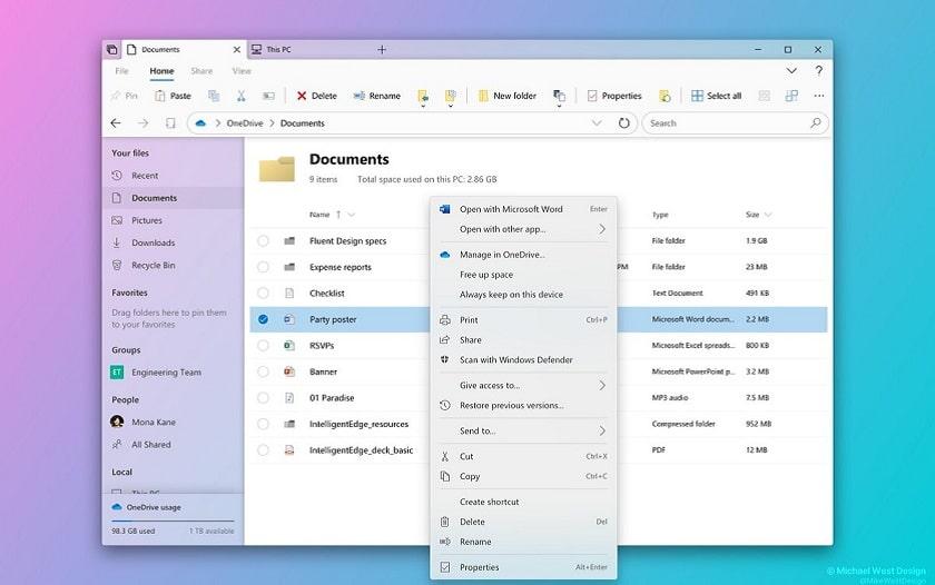 Partager Calendrier Outlook 2020.Windows 10 L Explorateur De Fichiers Va Etre Completement