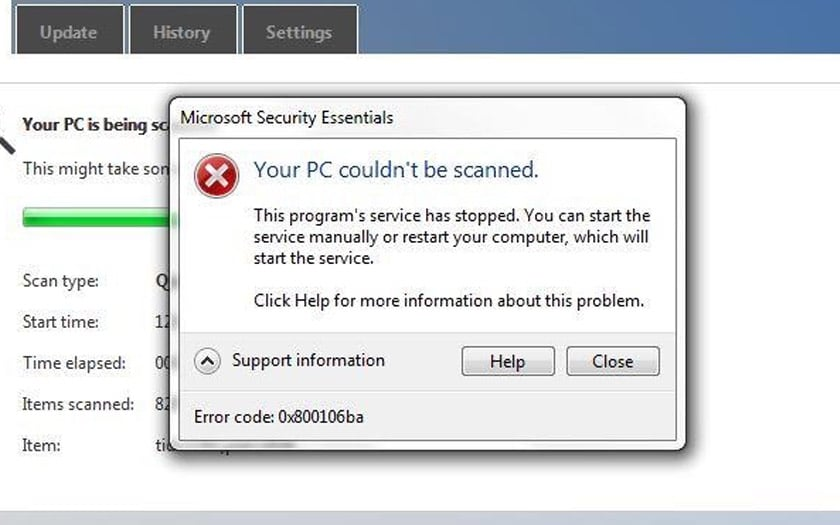 windows 7 81 bug desactive antivirus