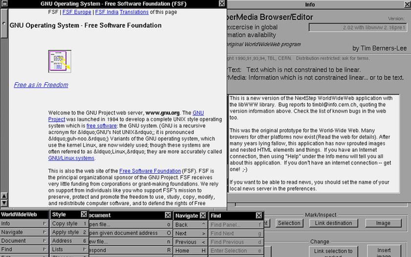 Le WorldWideWeb en 1990