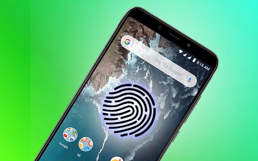 xiaomi android one capeur empreintes sous ecran