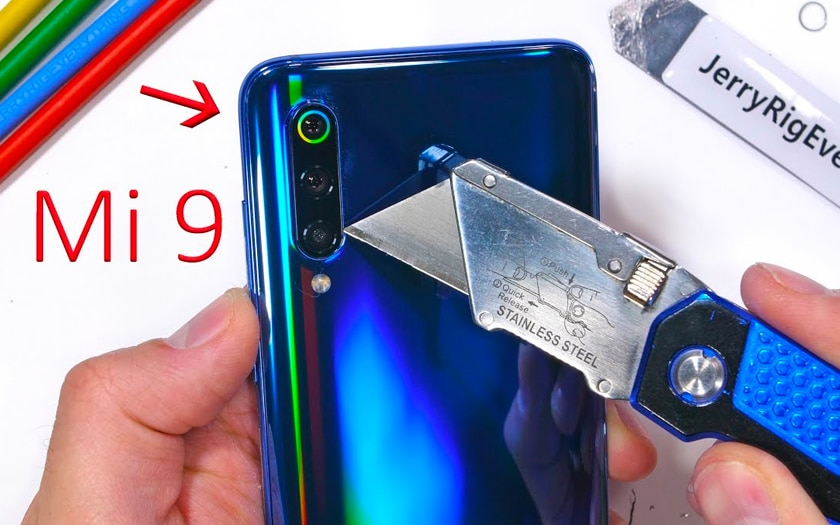 Xiaomi Mi 9 scratch test