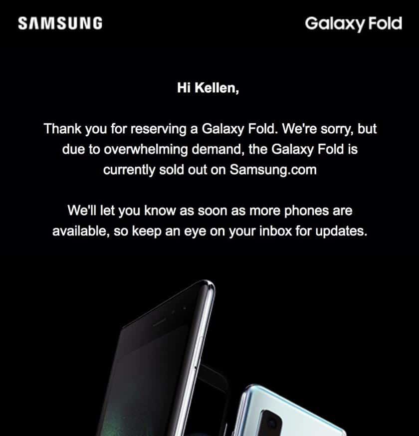 galaxy fold stock