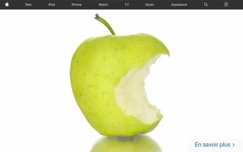 apple vendre pommes croquées apple store